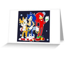 sonic runners Greeting Card