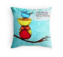 What my #Tea says to me - March 1, 2014 Pillow Throw Pillow