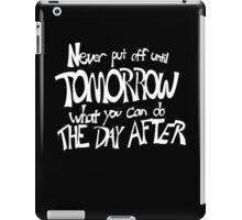 Procrastinator's Manifesto iPad Case/Skin