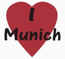 I Love Munich T-Shirt One Piece - Long Sleeve