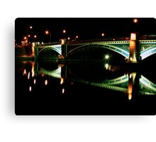 Bridge by night Canvas Print