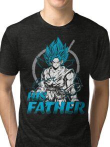 Super Saiyan Goku God Dad Shirt - RB00486 Tri-blend T-Shirt