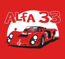 Alfa Romeo 33 Sports Racer  Kids Tee