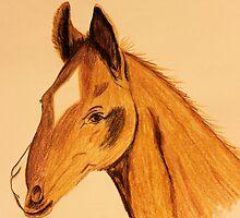 Kirsten's Horse by aprilann