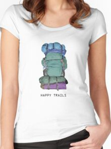 Happy Trails Women's Fitted Scoop T-Shirt