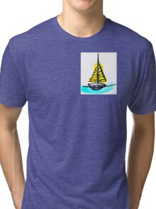 Summer Sail Boat Tri-blend T-Shirt