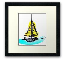Summer Sail Boat Framed Print