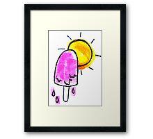 Melting Popsicle Framed Print