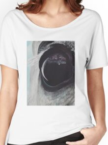 Horse Eye 12x14 Acrylic on Canvas Women's Relaxed Fit T-Shirt