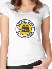 Boston United Badge Women's Fitted Scoop T-Shirt