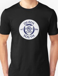 Queen of the South Badge - Scottish Championship Unisex T-Shirt