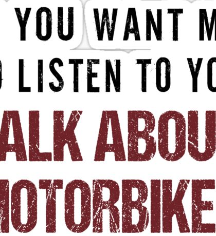 Rude Motorbike Shirt Sticker