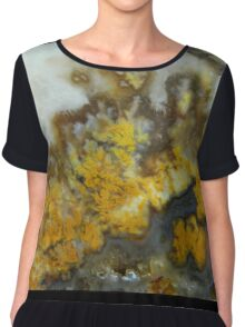Dragon Fire Plume Agate Chiffon Top
