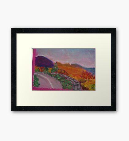 Colorful Road Framed Print