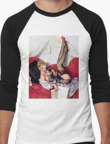 Gil Elvgren Appreciation T-Shirt no. 05 Men's Baseball ¾ T-Shirt
