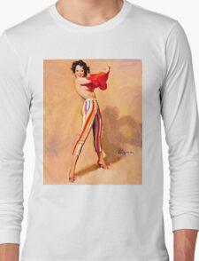 Gil Elvgren Appreciation T-Shirt no. 06 Long Sleeve T-Shirt