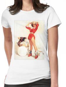 Gil Elvgren Appreciation T-Shirt no. 07 Womens Fitted T-Shirt