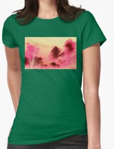 Strawberry Sunset Skies Womens Fitted T-Shirt