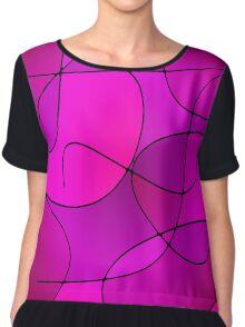 ABSTRACT CURVES-1 (Purples, Violets, Fuchsias & Magentas-3)-(9000 x 9000 px) Chiffon Top