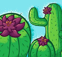Cactus Flower by jellysoupstudio