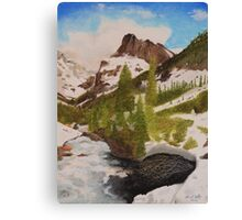 Snowy Mountain Valley Canvas Print