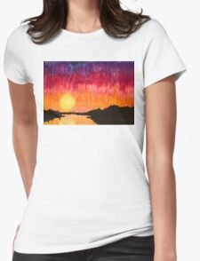 Strands of Sunset Womens Fitted T-Shirt