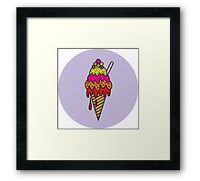 Freaky Ice Cream Cone Framed Print