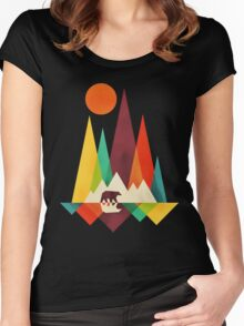 mountain bear Women's Fitted Scoop T-Shirt