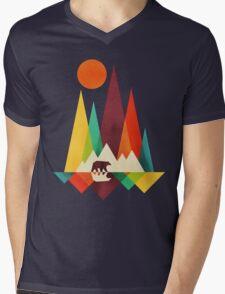 mountain bear Mens V-Neck T-Shirt