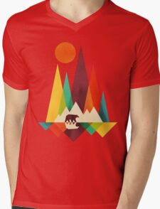 mountain bear Mens V-Neck T-Shirt