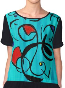 Blue Jazz at Noon Chiffon Top