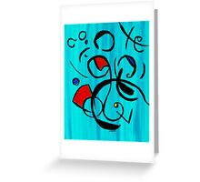 Blue Jazz at Noon Greeting Card