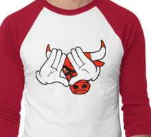 Bull's Target Locked Men's Baseball ¾ T-Shirt