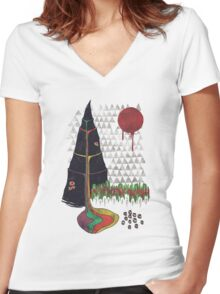Holy Mountain Women's Fitted V-Neck T-Shirt