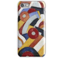 Marsden Hartley - Abstraction Blue, Yellow And Green. Abstract painting: abstract art, geometric, expressionism, composition, lines, forms, creative fusion, spot, shape, illusion, fantasy future iPhone Case/Skin