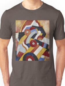 Marsden Hartley - Abstraction Blue, Yellow And Green. Abstract painting: abstract art, geometric, expressionism, composition, lines, forms, creative fusion, spot, shape, illusion, fantasy future Unisex T-Shirt