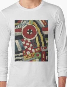 Marsden Hartley - Berlin Abstraction. Abstract painting: abstract art, geometric, expressionism, composition, lines, forms, creative fusion, spot, shape, illusion, fantasy future Long Sleeve T-Shirt
