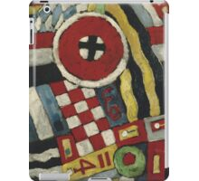 Marsden Hartley - Berlin Abstraction. Abstract painting: abstract art, geometric, expressionism, composition, lines, forms, creative fusion, spot, shape, illusion, fantasy future iPad Case/Skin