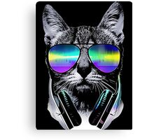 music lover cat Canvas Print