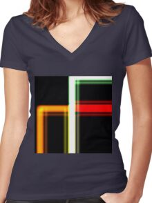 Tube Colors #5 Women's Fitted V-Neck T-Shirt