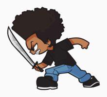 Huey Freeman Fighting Stance by blanksy