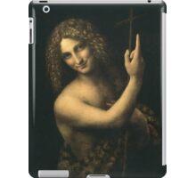 Leonardo Da Vinci - St. John The Baptist. Man portrait: strong man, boy, male, smile,  italian, masculine, boyfriend, smile, florence, sexy men, mustache iPad Case/Skin