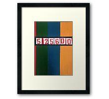525600 minutes Framed Print