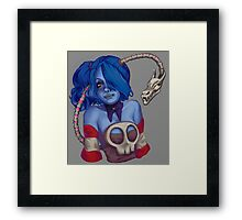 Squigly Bust Framed Print