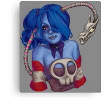 Squigly Bust Canvas Print