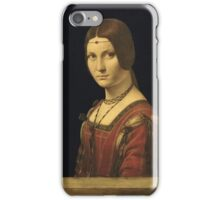 Leonardo Da Vinci - Portrait Of A Lady . Woman portrait: sensual woman,  italian, female style, pretty women, femine, beautiful dress, cute, creativity, love, sexy lady, lady iPhone Case/Skin