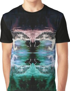 Monitor Lizard Reflection on Black Graphic T-Shirt