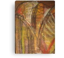 Windy Autumn - Section of Art Pastel Abstract  Canvas Print