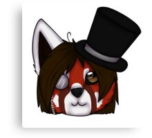Red Panda's Tophat Canvas Print