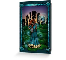 Silhouette Merida  Greeting Card